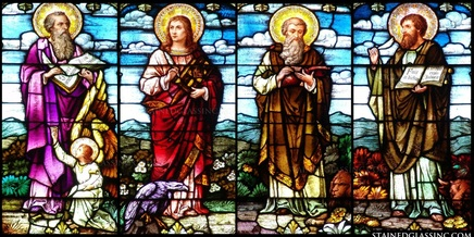 stained glass, saints, mary magdalene, church windows, churches, apostles, peter, martyrs, glass, windows